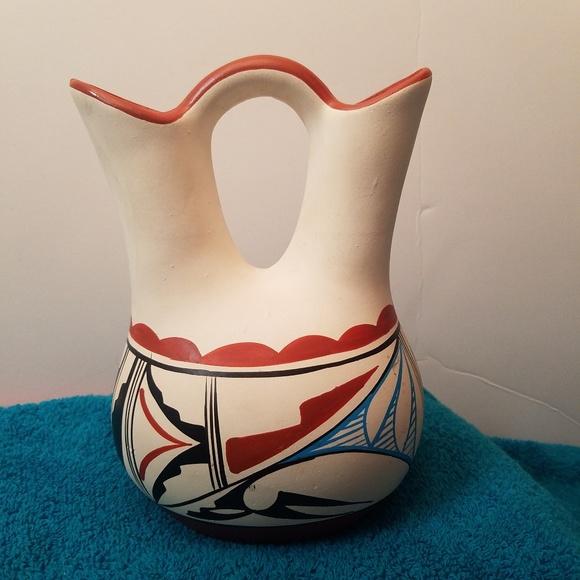 Native American Wedding.Acoma Pueblo Native American Wedding Vase